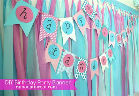 diy birthday banner template simple diy birthday banner tutorial