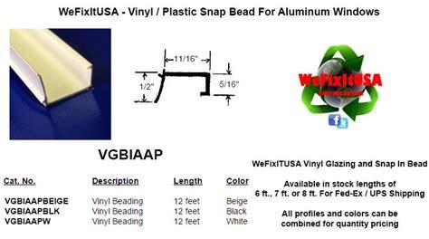 window glazing bead  aluminum vinyl wood windows doors vgbiaap biltbest window parts