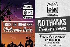 Queensland Police issue posters to help 'trick or treaters ...