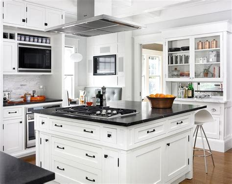 island cooktop vent center island vent transitional kitchen