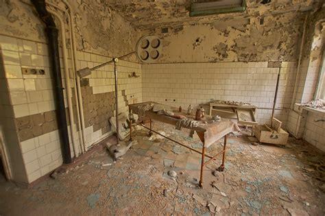 Inside chernobyl's hospital basement (scariest room in chernobyl). Hospital No. 126, Pripyat (Chernobyl Exclusion Zone) - Oct ...