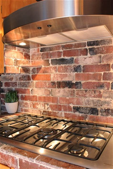 brick kitchen backsplash refresheddesigns green idea diy kitchen backsplashes