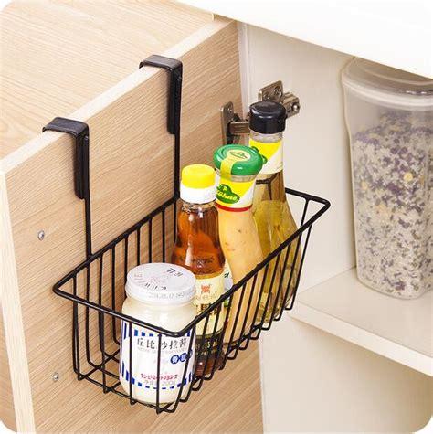 kitchen cabinet storage baskets kitchen organizer iron cabinet door hanging storage basket 5808