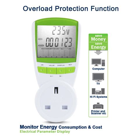 power consumption meter energy monitor kwh calculator