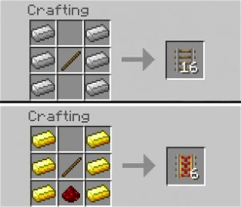 all minecraft redstone recipes for crafting redstone items