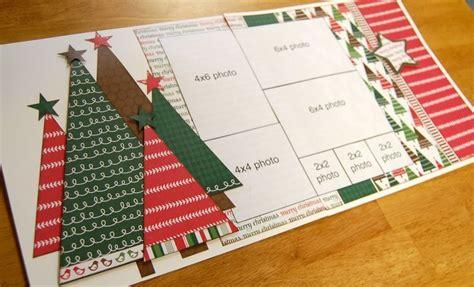 christmas huge template huge trees 2 pages scrapbooking pinterest scrapbook
