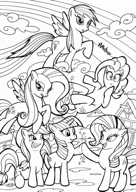 pony friendship  magic printable coloring pages coloring home