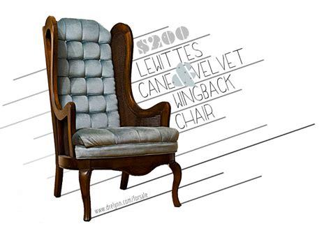 sold lewittes velvet wingback chair dre