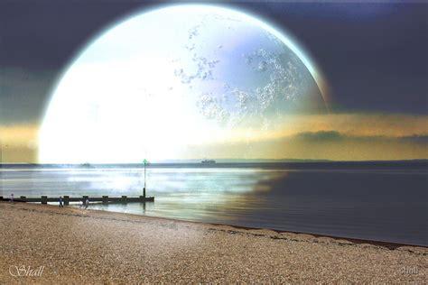 moonlit beach   redbubble
