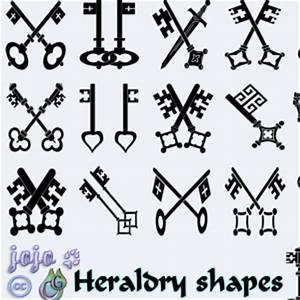 Medieval Keys Heraldry Shapes (Symbols) | Custom Shapes ...