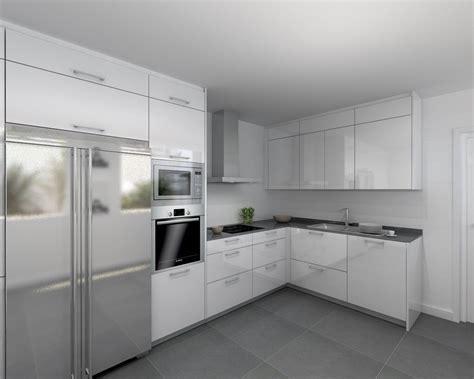 cocina santos modelo plano laminado blanco polar brillo