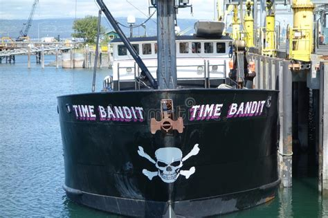 Time Bandit Boat For Sale by A Crabbing Boat In Alaska Editorial Photo Image