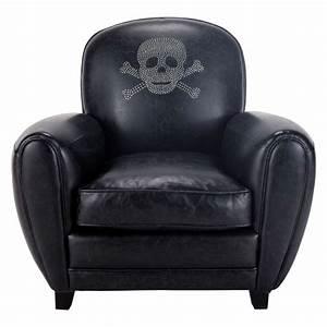 Fauteuil Club Cuir Maison Du Monde : fauteuil t te de mort noir sparrow maisons du monde ~ Melissatoandfro.com Idées de Décoration