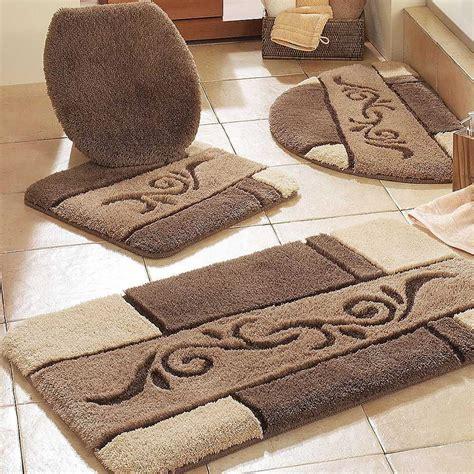 Bathroom Rug Ideas by Contemporary Bathroom With Brown Bathroom Rug Sets And