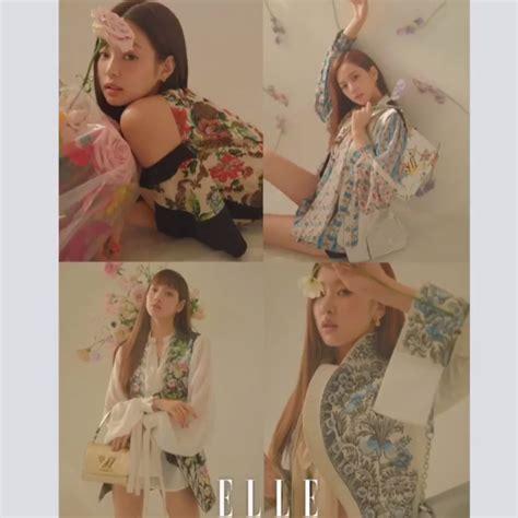 blackpink magazine photoshoot elle korea april
