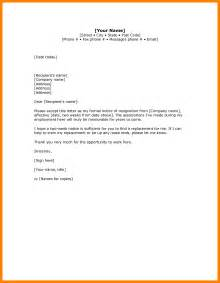 Two-Week Notice Resignation Letter Sample