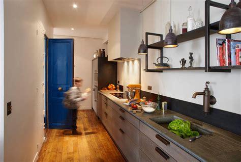 cuisine couleur mur gain de place une cuisine xavie 39 z dans l 39 entrée