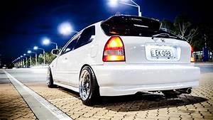 White cars honda civic street wallpaper (30072)