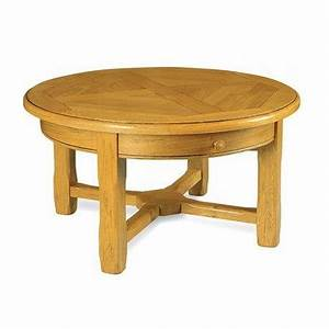 Table Ronde En Chene : table basse ronde pieds carr s en ch ne massif ~ Teatrodelosmanantiales.com Idées de Décoration