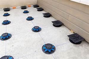 Dalle Pour Terrasse Sur Plot : photos terrasse dalle jouplast solutions constructives ~ Premium-room.com Idées de Décoration