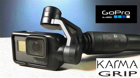 gopro karma grip gimbal stabilizer unbox  features funnydogtv