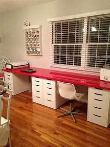 Ikea Schreibtisch Hack : ikea desk top linnman and alex drawers diy aufbewahrung ~ Watch28wear.com Haus und Dekorationen