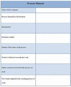 Manual Template For Process  Sample Of Process Manual