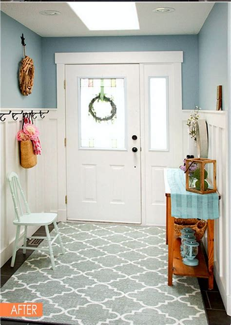Outdoor Wainscoting Ideas by White Wainscoting Can Make A Small Entryway Look Feel