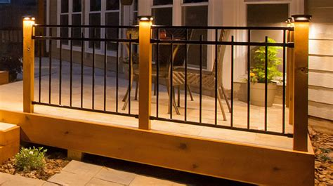 post lights for decks low voltage post caps metal composite vinyl