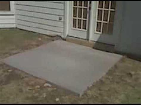 patio concrete slab replacement  repair  fort worth