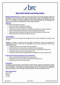 Hse Health And Safety Policy Template HEALTH AND SAFETY POLICY Template In Word And Pdf Formats