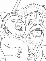 Coloring Clown Creepy Adults Clowns Adult Printable Drawing Scary Halloween Sheet Circus Insane Posse Creapy Colorings Sheets Face Getdrawings Popular sketch template
