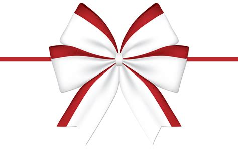 red white bow png clipart image  images red white