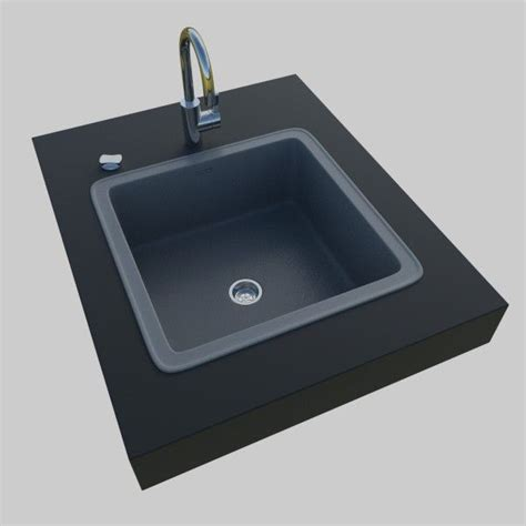 Kitchen Sink 3d Model Obj 3ds Fbx Blend Dae X3d  Cgtradercom