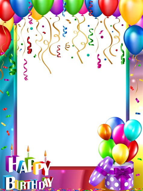birthday card template with photo pin by concepcion on unicorns happy birthday png