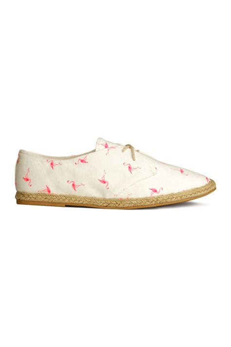 front screen espadrille style shoes white flamingo sale h m us