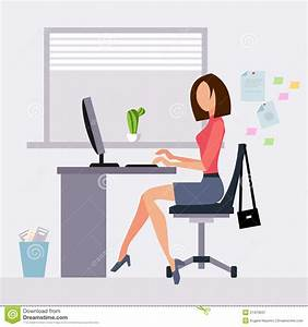 Female Office Workers Clip Art Pictures to Pin on ...