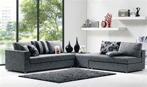 fabric sofa set lovely blue sofa set 4 modern fabric sectional sofas Modern