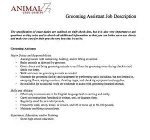 grooming assistant description http resumesdesign