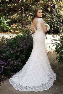 David39s bridal 39all over beaded lace trumpet gown39 size 4 for Wedding gown preservation davids bridal