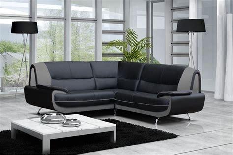 canapé d angle gris et noir canapé moderne simili cuir réversible gris noir