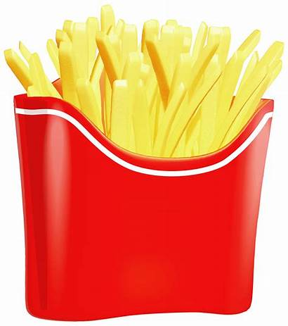 Fries French Clipart Clip Chips Fry Finger