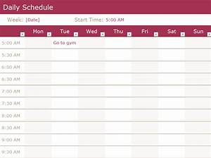 daily schedule office templates With microsoft office weekly schedule template