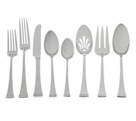 flatware lenox stainless brookfield piece sets elegant settings lennox place steel seller amazon