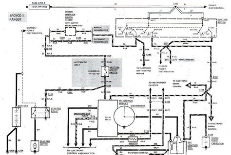 Ford Bronco Wiring 1983 1988 ford bronco ii start ignition wiring diagram