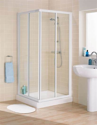 Shower Cubicle Doors Aluminium Curtain Sliding Side