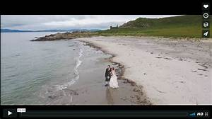 crear wee wedding drone video on scottish beach mike With wedding drone footage