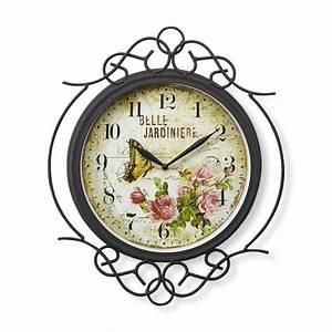 French garden indoor outdoor clock for Garden clock