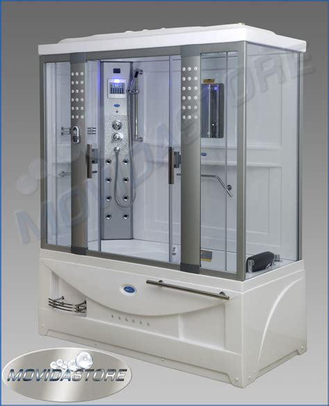 box doccia doppio box cabina doccia sauna vasca idromassaggio rettangolare