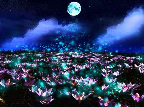 lotus flower moon and flowers